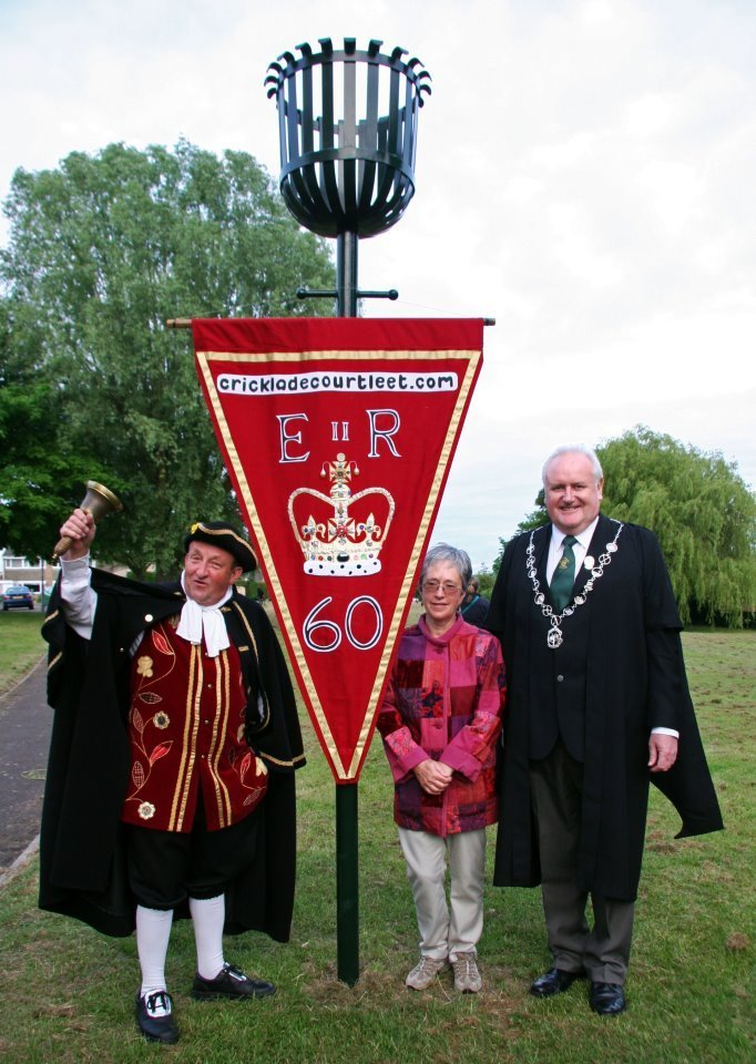 Lighting of the Cricklade Jubilee Beacon – 2012